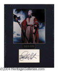 Autographs, Charlton Heston Signed Matted Display