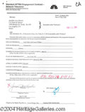 Autographs, Jennifer Love Hewitt Signed Document