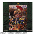 Autographs, History of the World Cast Signed Laserdisc