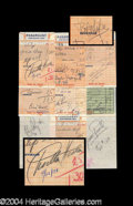 Autographs, Vintage Hollywood Signed Receipt Lot