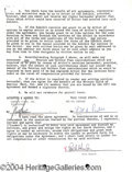 Autographs, Rock Hudson Signed Document