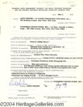 Autographs, Rock Hudson Vintage Signed Contract