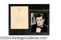 Autographs, Rock Hudson Typed Letter Signed
