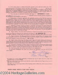 Autographs, Kim Hunter Vintage Signed Document