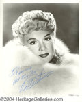 Autographs, Betty Hutton Gorgeous Signed Photo