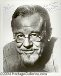 Autographs, Burl Ives Signed 8 x 10 Photo