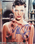 Autographs, Milla Jovovich Sexy Signed Photo