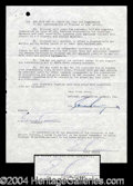 Autographs, Ernie Kovacs Rare Signed Document