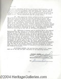 Autographs, Michael Landon Signed Bonanza Document