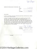 Autographs, John Lithgow Signed Document