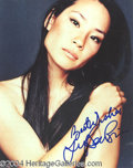 Autographs, Lucy Liu In-Person Signed Photo