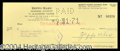 Autographs, Zeppo Marx Signed Bank Check