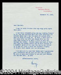 Autographs, Mary Pickford Typed Letter Signed