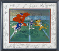 Football Collectibles:Balls, 1986 New York Giants Team Signed Cel . The 1986 version of the New York Giants defeated the Denver Broncos to take the Supe...
