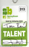 Autographs, Tara Reid Signed MTV Talent Pass
