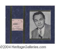 Autographs, Edward G. Robinson Signed Matted Display