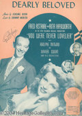 Autographs, Jane Russell Vintage Signed Sheet Music