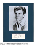 Autographs, Bobby Rydell Signed Matted Display