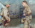 Autographs, Hanks & Damon Private Ryan Signed Photo