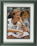 Basketball Collectibles:Others, Larry Bird Signed Sports Illustrated Cover. Boston Celticsbasketball great Larry Bird, is identified on this signed March3...