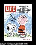 Autographs, Charles Schulz Vintage Signed Life Cover
