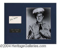 Autographs, Phil Silvers Signed Matted Display