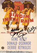 Autographs, Singin' In The Rain Cast Signed Postcard