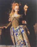 Autographs, Sleepy Hollow Depp & Ricci Signed Photo
