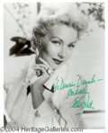 Autographs, Ann Sothern Signed 8 x 10 Photo
