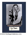 Autographs, Robert Stack Signed Matted Display