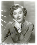 Autographs, Barbara Stanwyck Signed 8 x 10 Photo