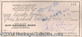 Autographs, Barbra Streisand Rare Signed Bank Check