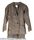 Autographs, Elizabeth Taylor Owned and Worn 2-Piece Suit
