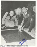 Autographs, Gene Tierney Signed 8 x 10 Photo