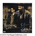 Autographs, Training Day Cast Signed Soundtrack LP Cover
