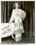 Autographs, Loretta Young Signed 8 x 10 Photo