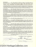 Autographs, Gig Young Signed Document
