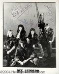 Autographs, Def Leppard Rare Group Signed Photo