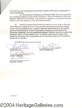 Autographs, En Vogue Group Signed Document