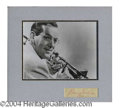 Autographs, Benny Goodman Vintage Signed Display