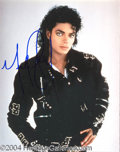 Autographs, Michael Jackson In-Person Signed Photo