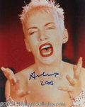 Autographs, Annie Lennox In-Person Signed Photo