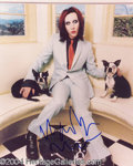 Autographs, Marilyn Manson In-Person Signed Photo
