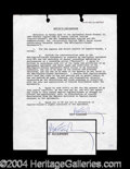 Autographs, Paul McCartney Scarce Signed Contract Agreement