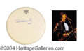 Autographs, Ric Ocasek Signed Drumhead & Photo