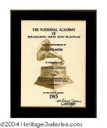 Autographs, The Pointer Sisters Grammy Nomination Certificate