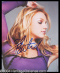 Autographs, Britney Spears Rare Signed 8 x 10 Photo