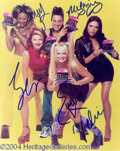 Autographs, Spice Girls Group Signed Photo