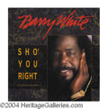 Autographs, Barry White Signed Album