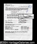 Autographs, Buzz Aldrin Rare Signed Document